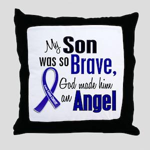 Angel 1 SON Colon Cancer Throw Pillow