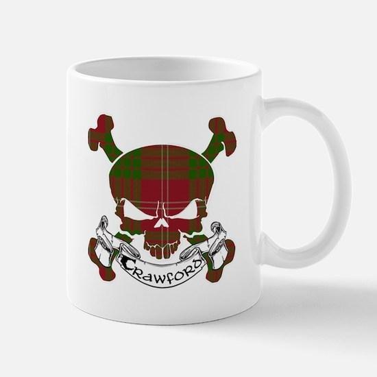 Crawford Tartan Skull Mug