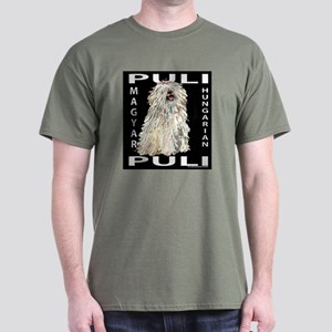 Magyar Puli (white) Dark T-Shirt
