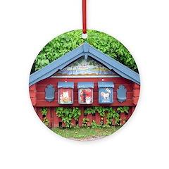 Sundborn Mailboxes Ornament (Round)