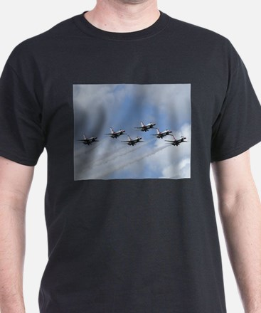 Thunderbirds Head On Black T-Shirt