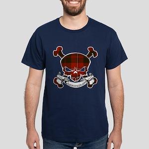 Cunningham Tartan Skull Dark T-Shirt
