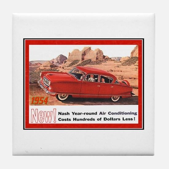 """1954 Nash Ad"" Tile Coaster"