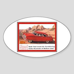 """1954 Nash Ad"" Oval Sticker"