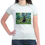 Flat Coated Retriever 2 Jr. Ringer T-Shirt