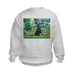 Flat Coated Retriever 2 Kids Sweatshirt