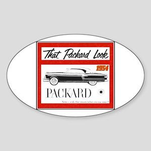 """1954 Packard Ad"" Oval Sticker"