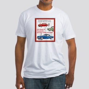 """""""1954 Studebaker Ad"""" Fitted T-Shirt"""