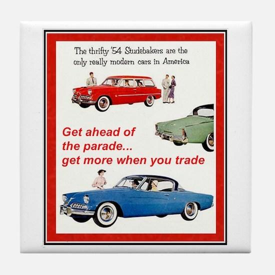 """1954 Studebaker Ad"" Tile Coaster"