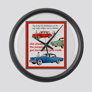 """1954 Studebaker Ad"" Large Wall Clock"