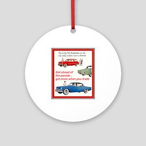 """1954 Studebaker Ad"" Ornament (Round)"