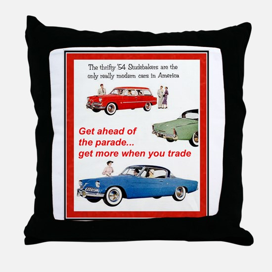 """1954 Studebaker Ad"" Throw Pillow"