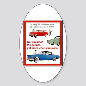 """1954 Studebaker Ad"" Oval Sticker"