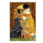 Kiss / Flat Coated Retriever Postcards (Package of