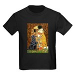 Kiss / Flat Coated Retriever Kids Dark T-Shirt