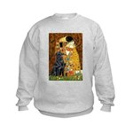 Kiss / Flat Coated Retriever Kids Sweatshirt