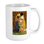 Kiss / Flat Coated Retriever Large Mug