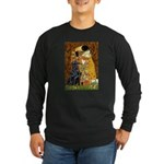Kiss / Flat Coated Retriever Long Sleeve Dark T-Sh