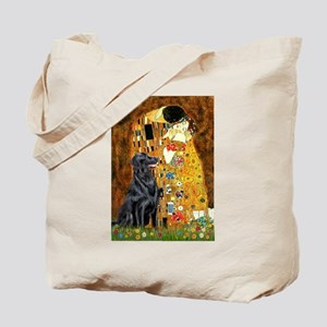 Kiss / Flat Coated Retriever Tote Bag
