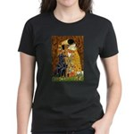 Kiss / Flat Coated Retriever Women's Dark T-Shirt