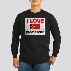 I Love East Timor Long Sleeve Dark T-Shirt