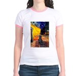 Cafe / Flat Coated Retriever Jr. Ringer T-Shirt