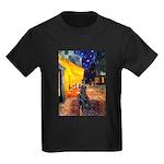 Cafe / Flat Coated Retriever Kids Dark T-Shirt