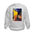 Cafe / Flat Coated Retriever Kids Sweatshirt