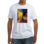 Cafe / Flat Coated Retriever Fitted T-Shirt