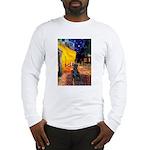 Cafe / Flat Coated Retriever Long Sleeve T-Shirt