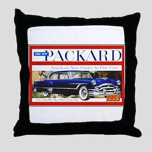 """""""1953 Packard Ad"""" Throw Pillow"""