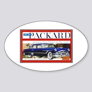 """1953 Packard Ad"" Oval Sticker"