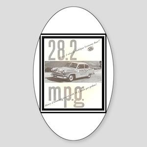 """""""1953 Henry J Ad"""" Oval Sticker"""