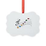 Emoji Animal Music Staff Picture Ornament