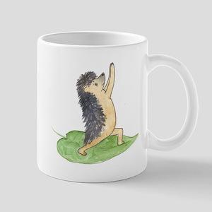 Yoga Hedgehog Warrior Leaf Mug