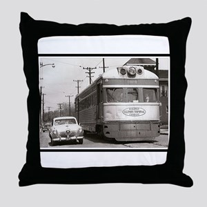 """Share the Road"" Throw Pillow"