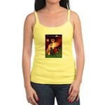 Angel / Flat Coated Retriever Jr. Spaghetti Tank