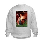 Angel / Flat Coated Retriever Kids Sweatshirt