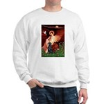 Angel / Flat Coated Retriever Sweatshirt
