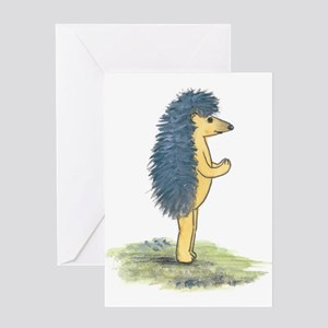 Yoga Hedgehog Mountain Post Greeting Card