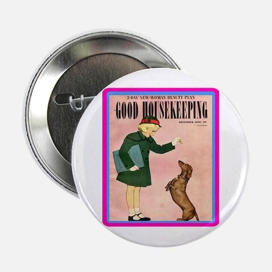 """1950 Good Housekeeping"" 2.25"" Button"