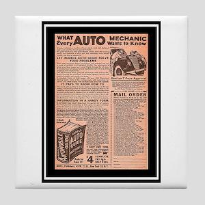 """""""Auto Guide-Circa 1960"""" Tile Coaster"""