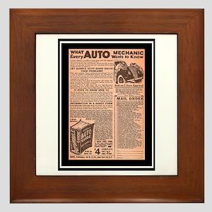 """""""Auto Guide-Circa 1960"""" Framed Tile"""