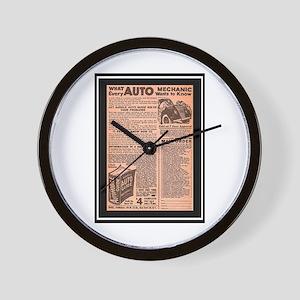 """""""Auto Guide-Circa 1960"""" Wall Clock"""