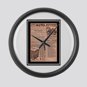"""Auto Guide-Circa 1960"" Large Wall Clock"