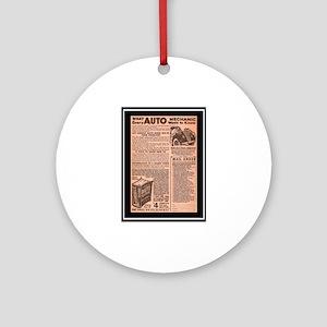 """""""Auto Guide-Circa 1960"""" Ornament (Round)"""