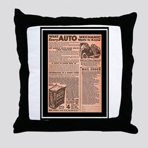 """Auto Guide-Circa 1960"" Throw Pillow"