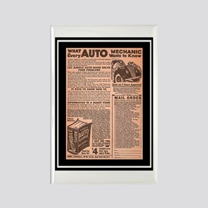 """Auto Guide-Circa 1960"" Rectangle Magnet"