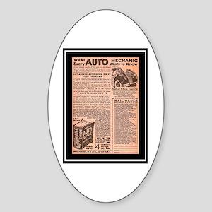 """""""Auto Guide-Circa 1960"""" Oval Sticker"""