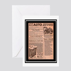 """Auto Guide-Circa 1960"" Greeting Card"
